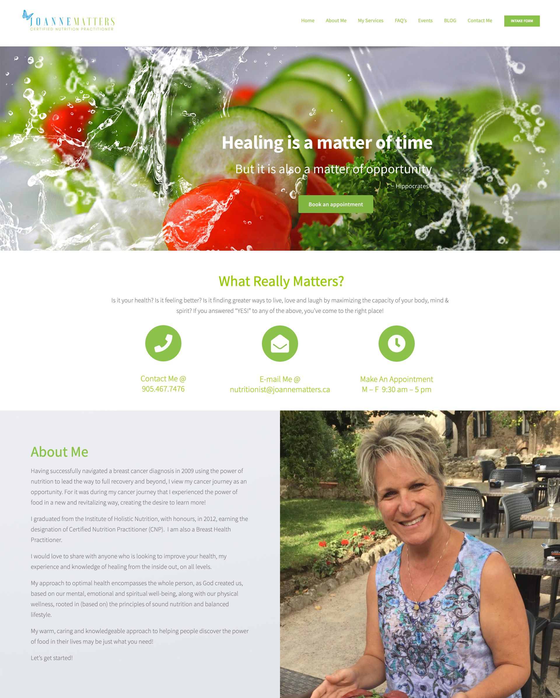 Health & Nutrition Website